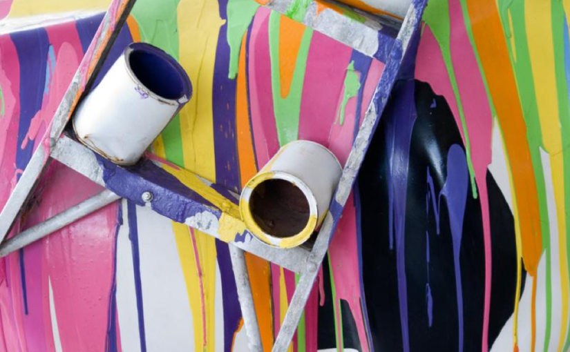 Clumsy Me! How to Clean Up Spilled Paint